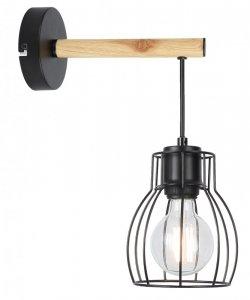 Lampa czarna kinkiet pojedynczy Bernita Candellux 21-77059