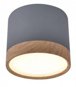 Lampa sufitowa szaro-drewniana 8,8x7,5cm Tuba Candellux 2275925