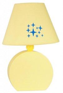 LAMPA STOŁOWA GABINETOWA CANDELLUX OFELIA 41-62492 MDF  E14 ŻÓŁTA