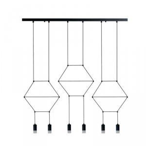 Lampa wisząca LINEA-6 LONG czarna 100 cm