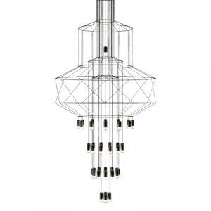 Lampa wisząca LINEA-43 czarna 90 cm