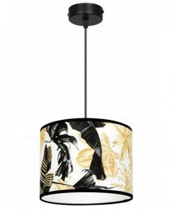 Lampa abażur wzór kwiaty - GOLD FLOWERS 2301/1/20