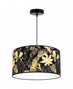 Lampa abażur wzór kwiaty - GOLD FLOWERS 2300/1/40