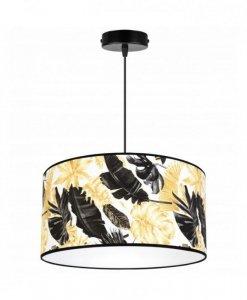 Lampa abażur wzór kwiaty - GOLD FLOWERS 2301/1/40