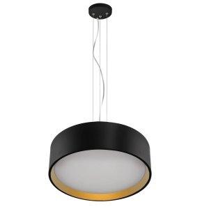 LIGHT PRESTIGE HUDSON LAMPA WISZĄCA CZARNO ZŁOTA OKRĄGŁA LED