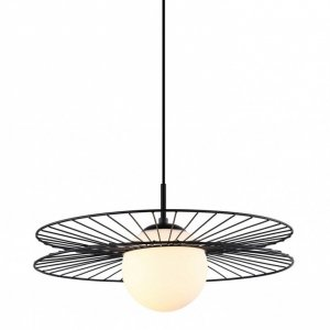 ITALUX SANDU MDM-4002/1 BK LAMPA WISZĄCA NOWOCZESNA CZARNO BIAŁA