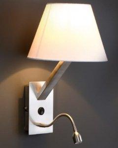 MAXLIGHT ORLANDO KINKIET + LAMPKA DO CZYTANIA LED BIAŁY