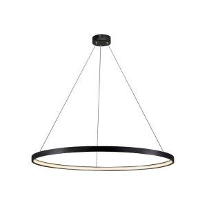 LIGHT PRESTIGE LAMPA WISZĄCA MAŁA CZARNA OKRĄG RING LED
