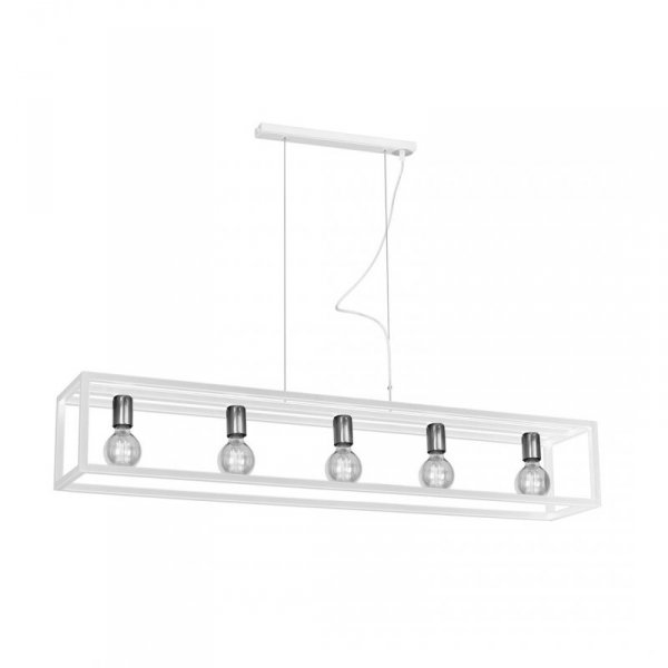 Lampa wisząca CAGE WHITE 5xE27