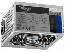 Zasilacz ATX 550W Akyga Basic AK-B1-550 Fan12cm P4 3xSATA PCI-E