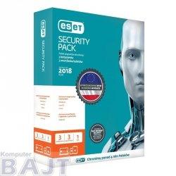 ESET Security Pack dla 3 komputerów i 3 urządzeń mobilnych - przedłużenie licencji, 12 m-cy, upg. BOX