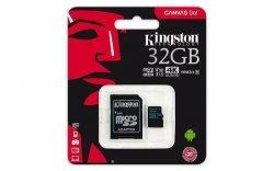 Karta pamięci Kingston microSDHC Canvas Go 32GB UHS-I U3 V30 + adapter