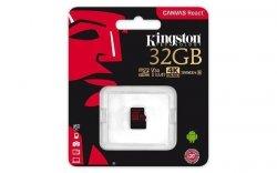 Karta pamięci Kingston microSDHC Canvas React 32GB Class 10 UHS-I U3