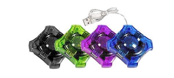 """Hub USB 2.0 Esperanza 4 porty """"Star"""" czarny"""
