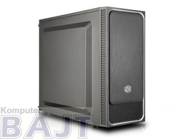 Obudowa Cooler Master MasterBox E500L Midi Tower bez zasilacza czarno-srebrna