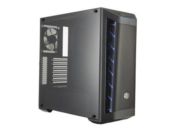 Obudowa Cooler Master MasterBox MB511 Midi Tower czarno-niebieska z oknem