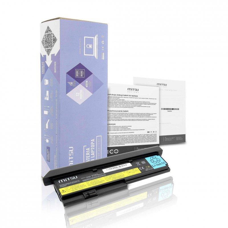 Bateria Mitsu do notebooka Lenovo X200 (10.8V-11.1V) (6600 mAh)