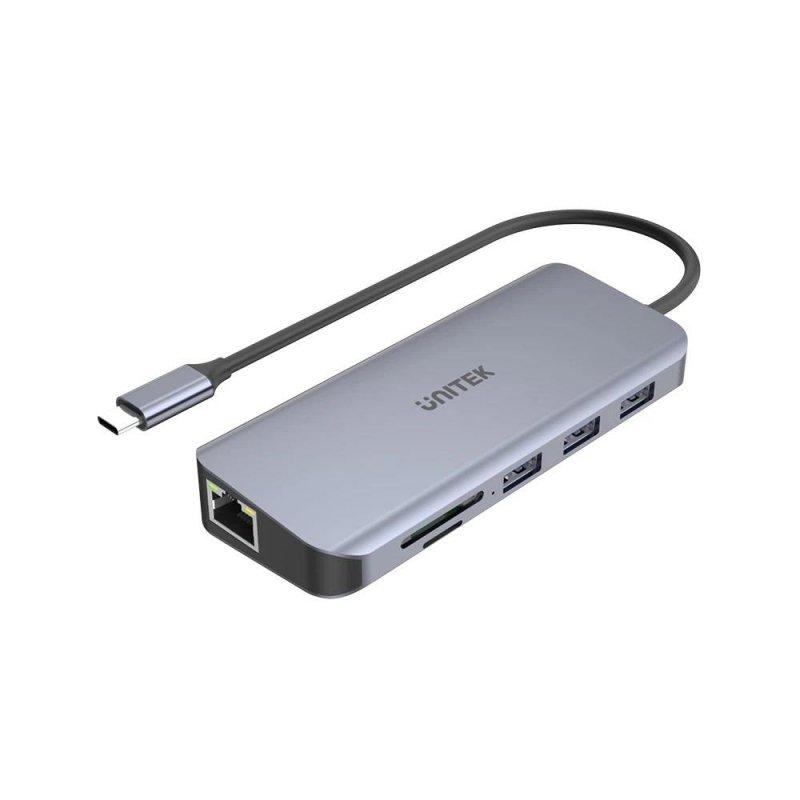 Hub USB-C Unitek D1026B 3xUSB 3.1, PD, HDMI, SD, VGA, RJ45
