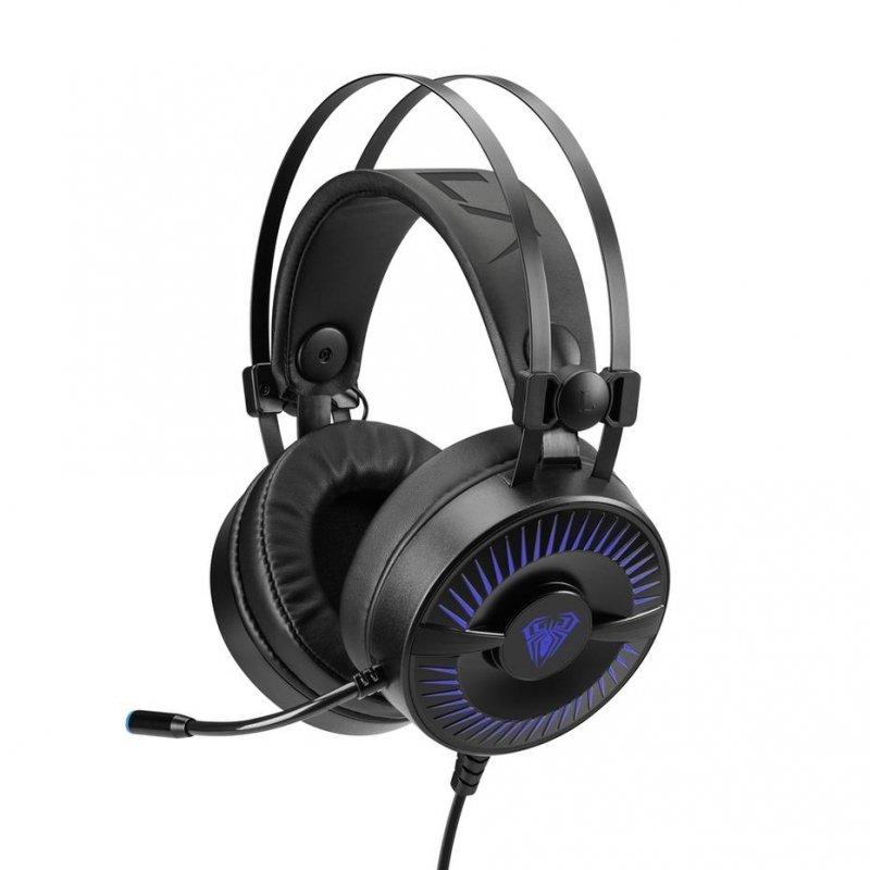 Słuchawki z mikrofonem dla graczy Aula Cold Flame Gaming (z podświetleniem) PC/XBOX One/PS4