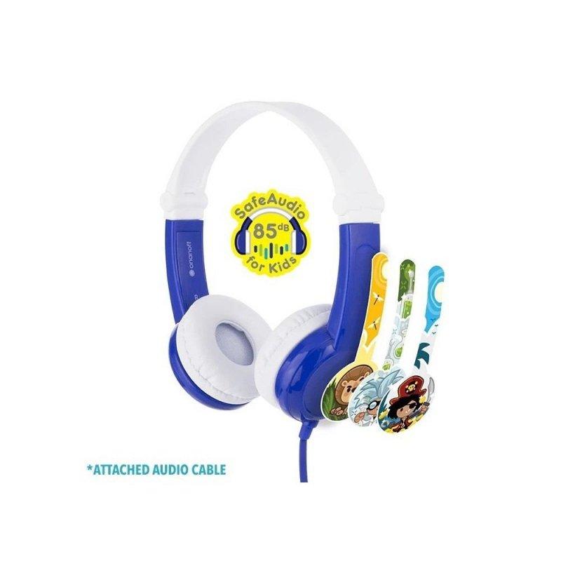 Słuchawki z mikrofonem BuddyPhones Connect Blue dla Dzieci 85dB