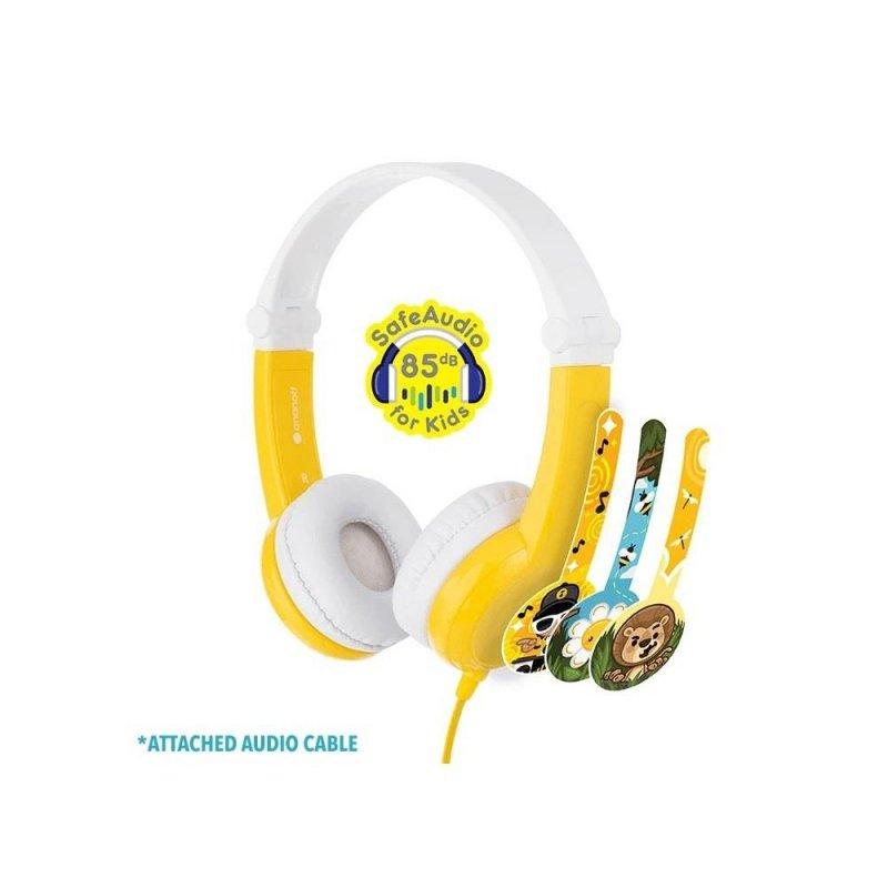 Słuchawki z mikrofonem BuddyPhones Connect Yellow dla dzieci 85dB