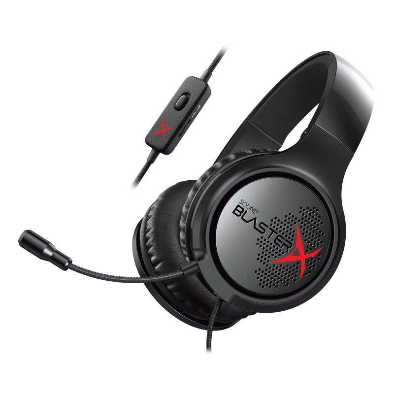 Słuchawki nauszne z mikrofonem Creative Sound BlasterX H3 czarne