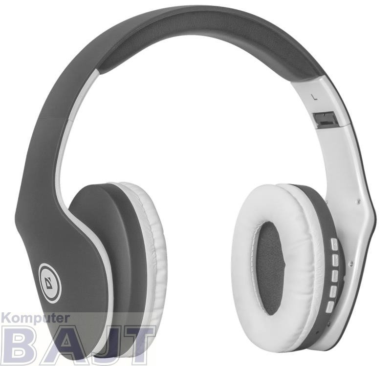 Słuchawki z mikrofonem Defender FREEMOTION B525 bezprzewodowe Bluetooth + MP3 Player szaro-białe