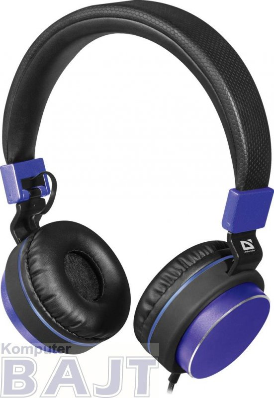 Słuchawki z mikrofonem Defender ACCORD 165 czarno-niebieskie