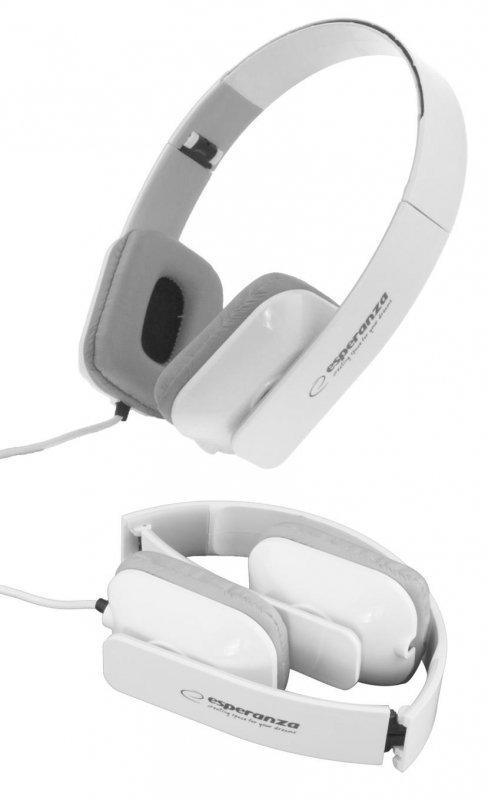 Słuchawki Esperanza EH143W Aruba białe