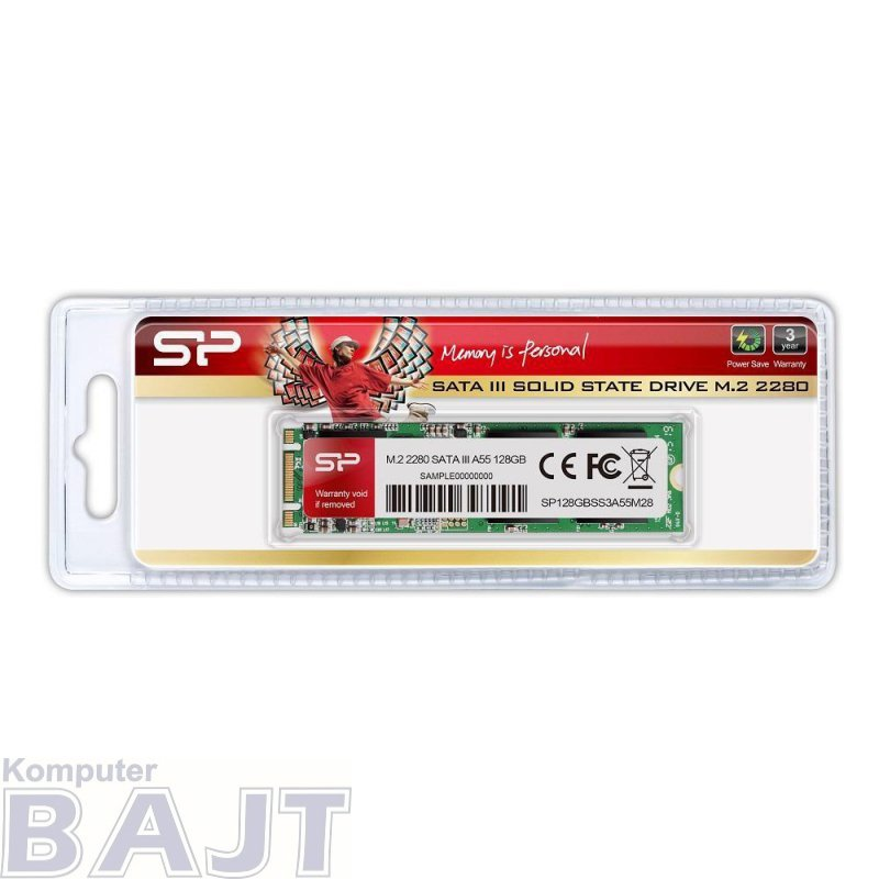 Dysk SSD Silicon Power A55 128GB M.2 2280 SATA3 (560/530 MB/s)
