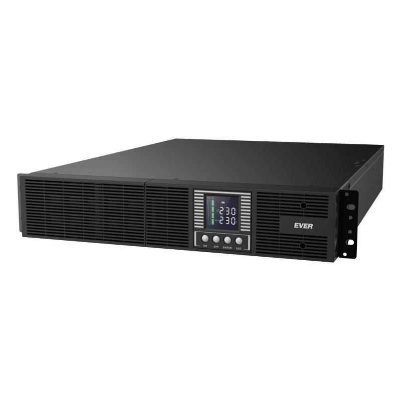 Zasilacz awaryjny UPS Ever On-Line Powerline RT PLUS 1000VA VFI 7xIEC Sin USB LCD