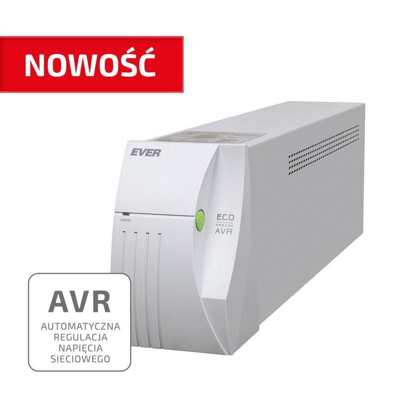 Zasilacz awaryjny UPS Ever ECO Pro 700 Line-Interactive AVR CDS sinus 2 gniazda PL USB