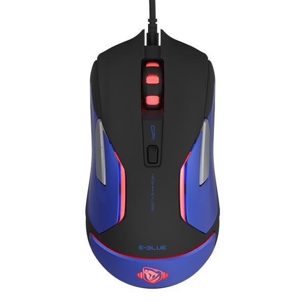 Mysz przewodowa E-Blue Auroza Gaming V2 optyczna Gaming czarno-niebieska