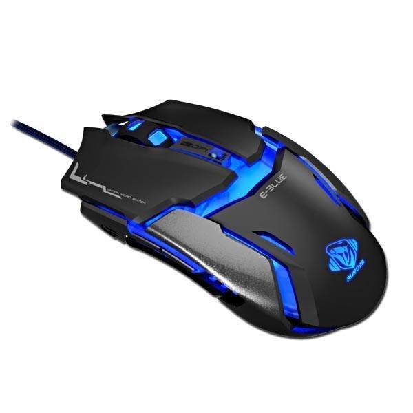 Mysz przewodowa E-Blue Auroza Type IM optyczna Gaming czarno-niebieska
