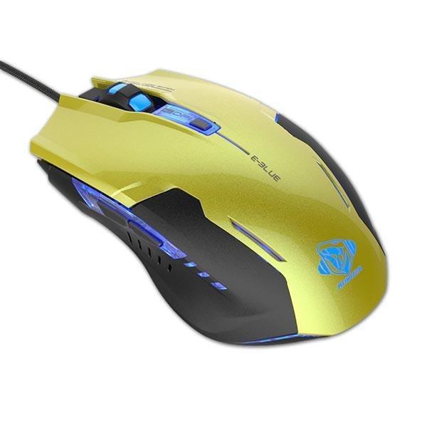 Mysz przewodowa E-Blue Auroza G optyczna Gaming czarno-zielona