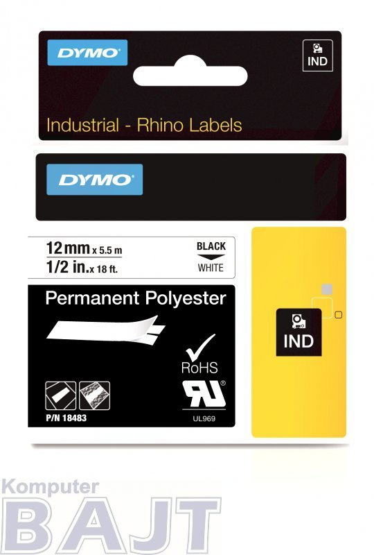 Taśma poliestrowa dla dużych ilości DYMO S0718210 (1 szt.; 12mm ; kolor biały)