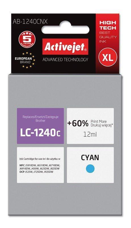 Tusz Activejet AB-1240CNX (zamiennik Brother LC1240C/1220C; Supreme; 12 ml; niebieski)