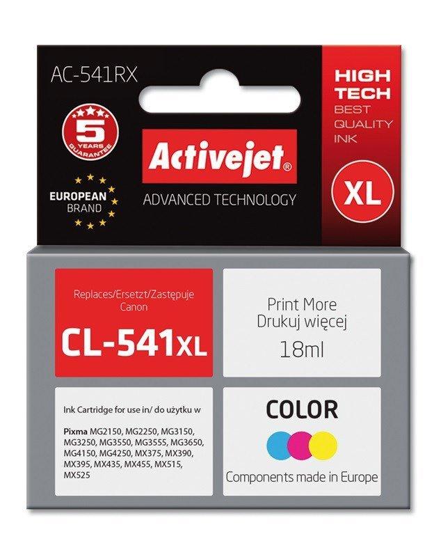 Tusz Activejet AC-541RX (zamiennik Canon CL-541XL; Premium; 18 ml; kolor)