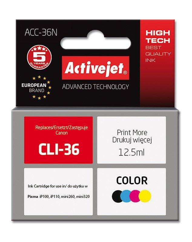 Tusz Activejet ACC-36N (zamiennik Canon CLI-36; Supreme; 12.5 ml; kolor)