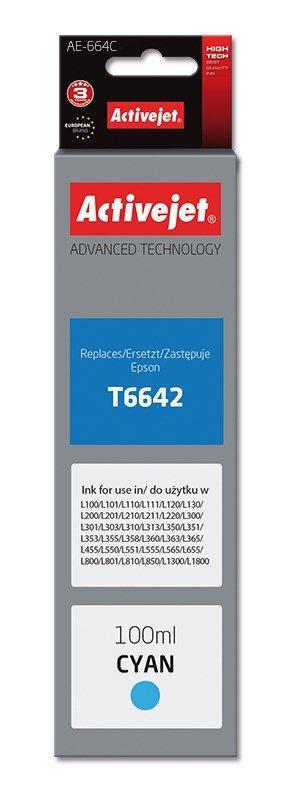 Tusz Activejet AE-664C (zamiennik Epson T6642; Supreme; 100 ml; niebieski)