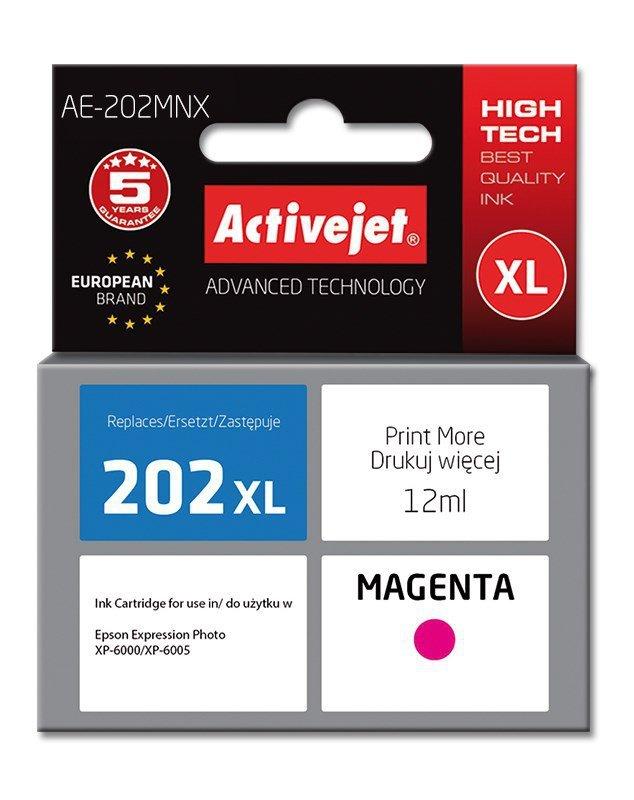Tusz Activejet AE-202MNX (zamiennik Epson 202XL H34010; Supreme; 12 ml; czerwony)