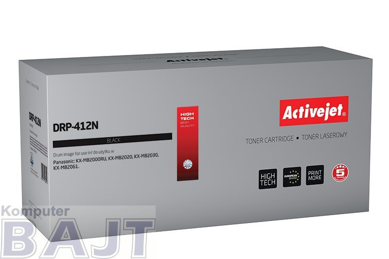 Bęben Activejet DRP-412N (zamiennik Panasonic KXFAD412X; Supreme; 10000 stron; czarny)