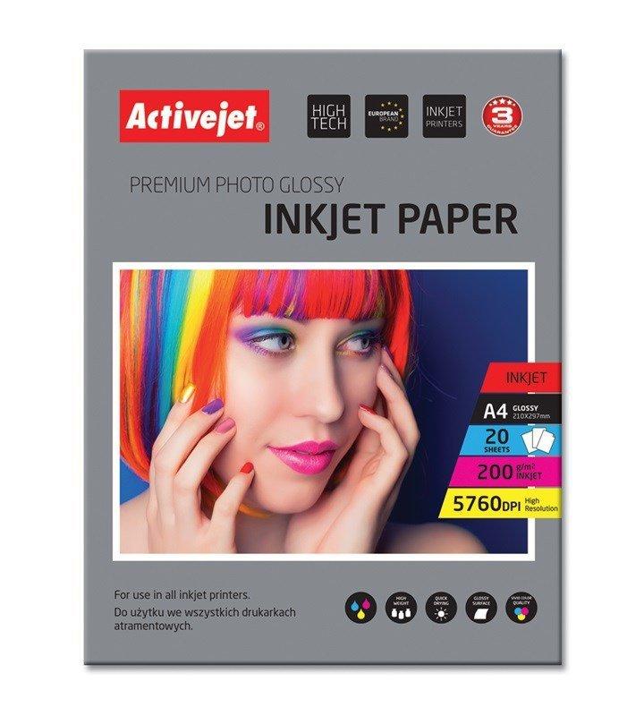 Papier błyszczący Activejet AP4-200G20 (A4; 20 szt.)