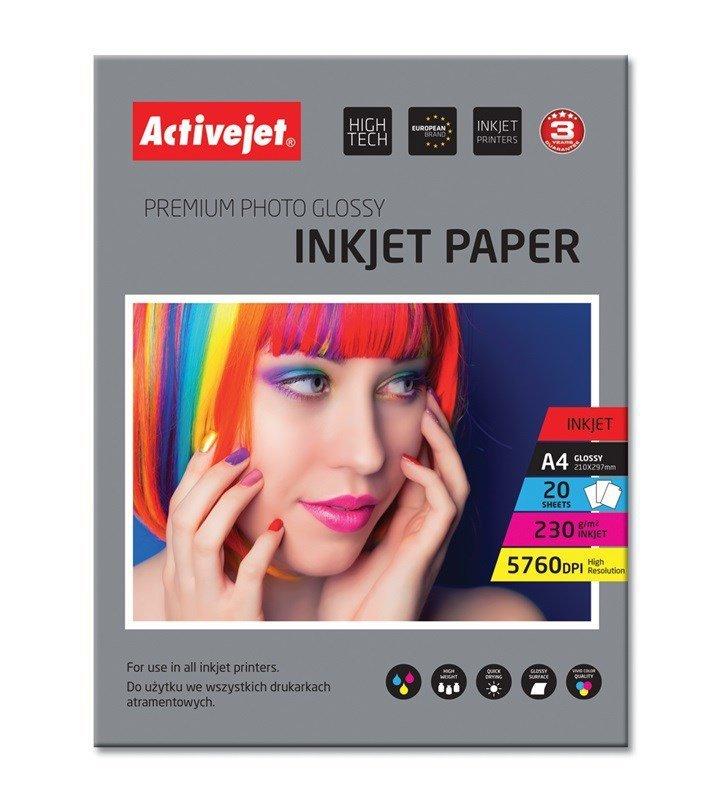Papier błyszczący Activejet AP4-230G20 (A4; 20 szt.)