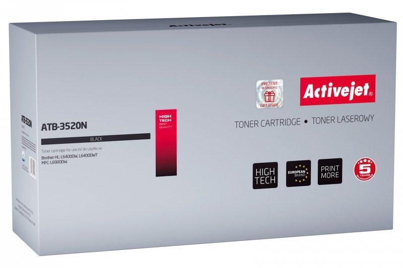 Toner Activejet ATB-3520N (zamiennik Brother TN-3520; Supreme; 20000 stron; czarny)
