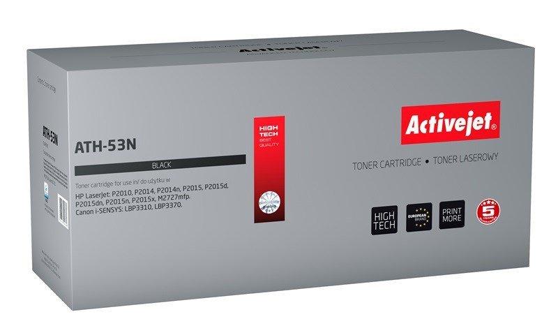 Toner Activejet ATH-53N (zamiennik HP 53A Q7553A, Canon CRG-715; Supreme; 3500 stron; czarny)
