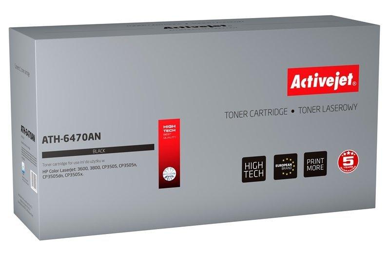 Toner Activejet ATH-6470AN (zamiennik HP 501A Q6470A, Canon CRG-711B; Premium; 6000 stron; czarny)