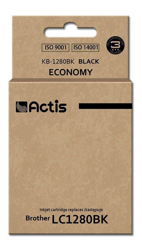 Tusz ACTIS KB-1280Bk (zamiennik Brother LC1280BK; Standard; 60 ml; czarny)