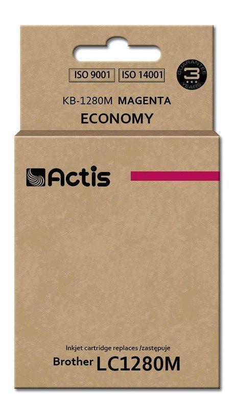 Tusz ACTIS KB-1280M (zamiennik Brother LC1280M; Standard; 19 ml; czerwony)