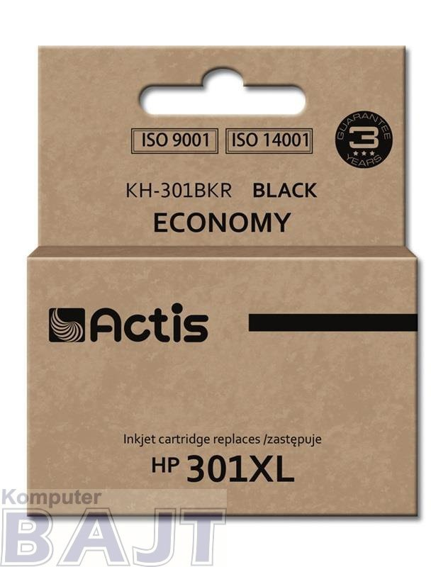 Tusz ACTIS KH-301BKR (zamiennik HP 301XL CH563EE; Standard; 20 ml; czarny)
